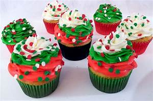 Christmas Swirl Cupcakes - Two Sisters