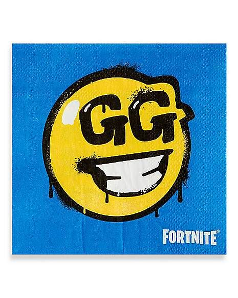 battle bus gg smiley face beverage napkins  pack
