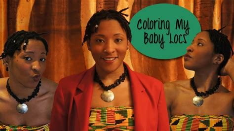coloring baby locs traditional locs vlog  youtube