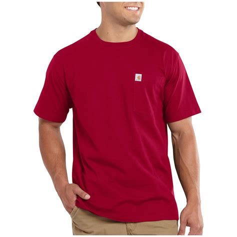 carhartt maddock pocket short sleeve t shirt 590858 t shirts at sportsman s guide