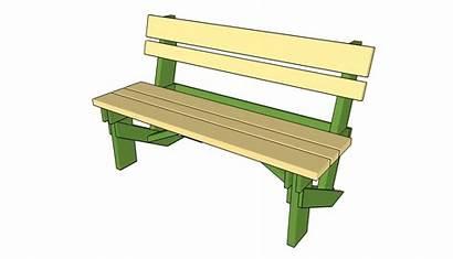 Bench Plans Garden Simple Wooden Clipart Outdoor