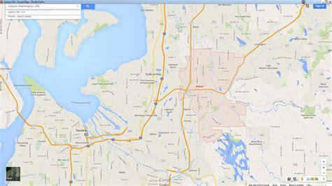 auburn washington map