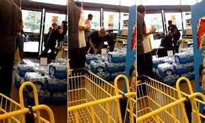 woman caught stealing shampoo  dollar general  slammed
