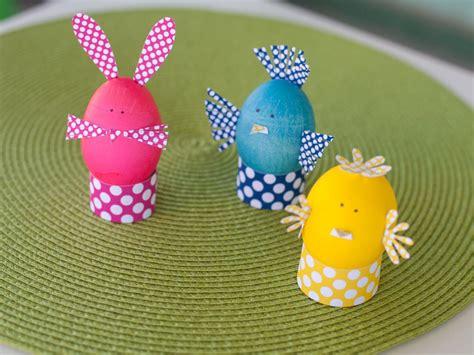 easter egg decorations craft kids craft dyed easter egg animals hgtv