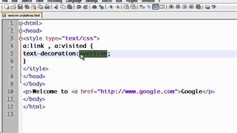 css tutorial  removing  underlines  linksmp