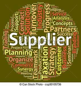 Drawings of Supplier Word Indicates Wholesale Supply And ...