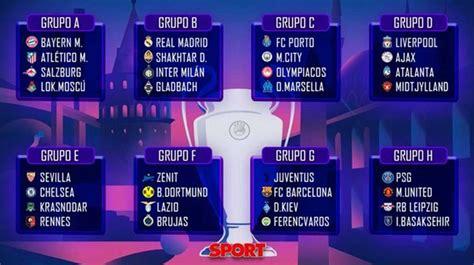 Champions League 2020-21 - Todos los partidos, fechas y ...
