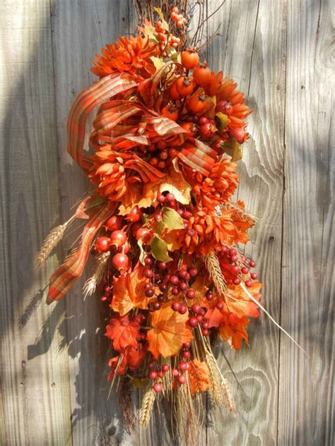 Fall Swag For The Front Door  Crafty Ideas Pinterest