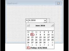 Add Date time picker in Ms Excel YouTube