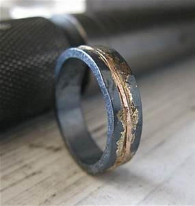 mens wedding band rustic wedding band mens wedding ring unique With rustic wedding rings for men