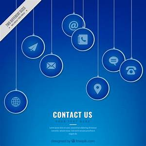 Blue contact icons background Vector | Free Download