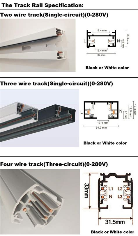 Track Series 2 3 4 Wire 3 phase circuit connectors 4 wire rail connector