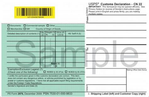 customs forms   shipping labels
