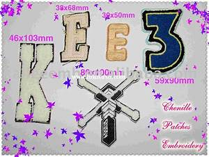 Embroidery chenille letter patch for sale price for Embroidery prices per letter