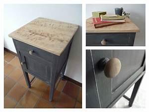 Table De Chevet Bleu : table de chevet patin e bleu pinterest ~ Preciouscoupons.com Idées de Décoration