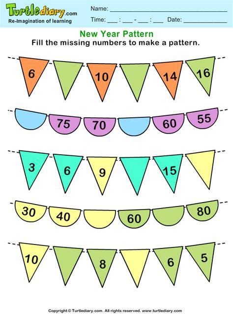 recognize number patterns  complete  worksheet