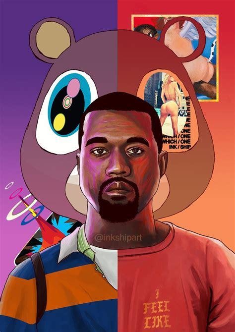 kanye west evolution poster inkship art inkship