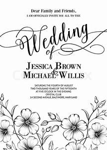 awesome wedding invitation with generic text for your With wedding invitation text box