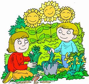 Image: Mother and Son in a Happy Gardening Picture ...
