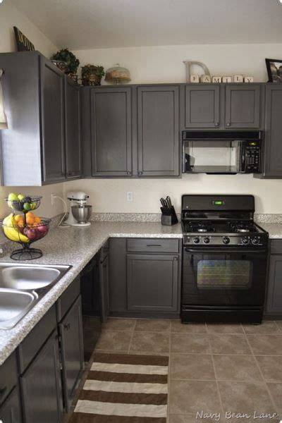charcoal grey painted kitchen cabinets black appliances and white or gray cabinets how to make