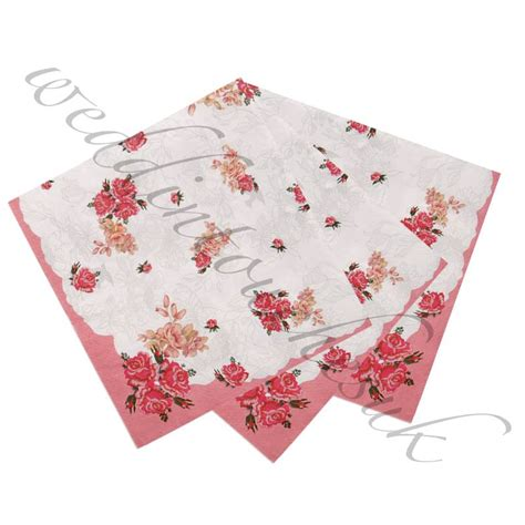 shabby chic napkins luxury paper napkins vintage style tea party accessories hen party shabby chic ebay