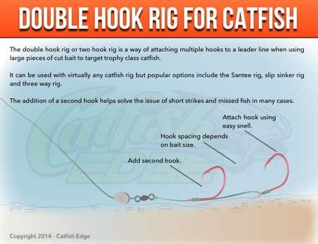 double hook rig  catfish big baits monster catfish