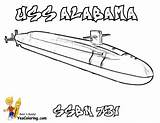 Submarine Coloring Uss Pages Alabama Navy Colouring Force Yescoloring sketch template