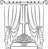 Curtain Drawing Getdrawings Stage sketch template