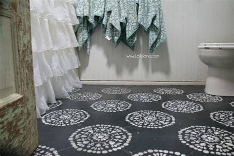 Hate Your Tile Floors? Paint Them!-lolly Jane