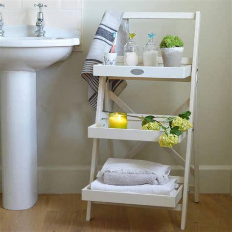 decorative pieces for shelves cottage bathroom look add this bathroom ladder shelf