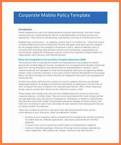 9 company cell phone policy template company letterhead With company issued cell phone policy template