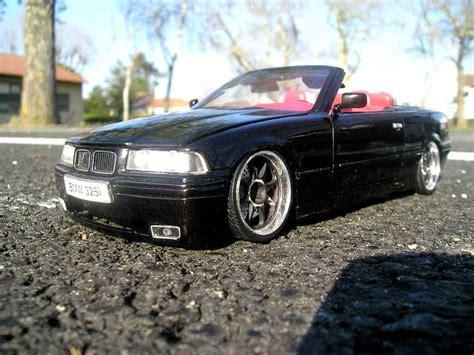 bmw 325i cabriolet miniature e36 interieur cuir jantes noires bords chromes maisto 1