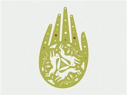 Hand Reiki Healing Rabbit Occult Dribbble Energy