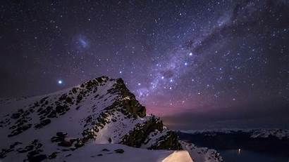 Starry Night Desktop Wallpapers Mountain Star Mountains