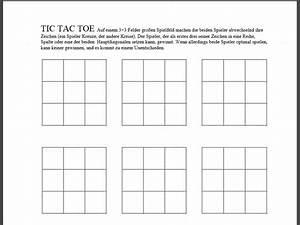 Tic Tac Toe Spiel : tic tac toe pdf vorlage download chip ~ Orissabook.com Haus und Dekorationen