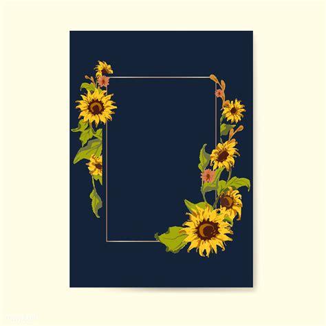 blank sunflower card template  stock illustration