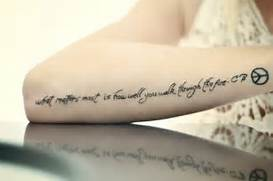 tatto  Tattoos Tumblr ...Quote Tattoos For Girls On Wrist