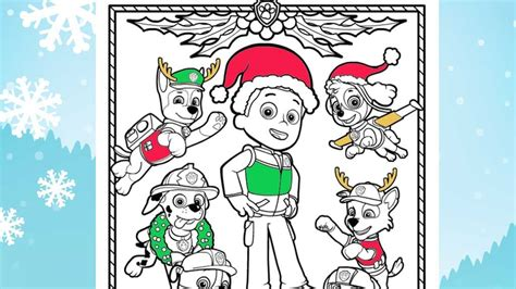 Paw Patrol Christmas Coloring Pages Printable Christmas Coloring Pages Free Paw Patrol Coloring Pages To Print Latonia Thrall