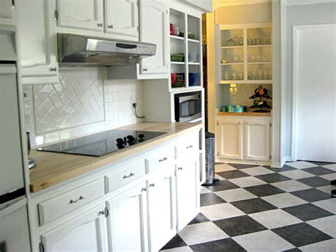 black  white kitchen tile  grasscloth wallpaper