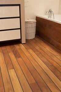 Parquet teck salle de bain mon parquet for Parquet salle de bain teck