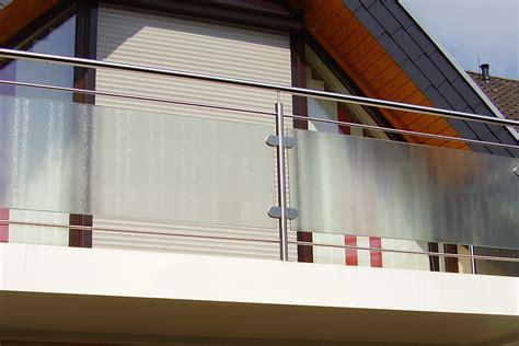 balkongeländer aus glas balkongel 228 nder edelstahl glas