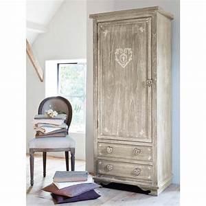 Dressing Maison Du Monde : dressing en paulownia gris camille maisons du monde ~ Nature-et-papiers.com Idées de Décoration