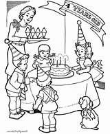 Birthday Party Coloring Pages Drawing Little Fourth Memory Netart Drawings Paintingvalley Birth Cool sketch template