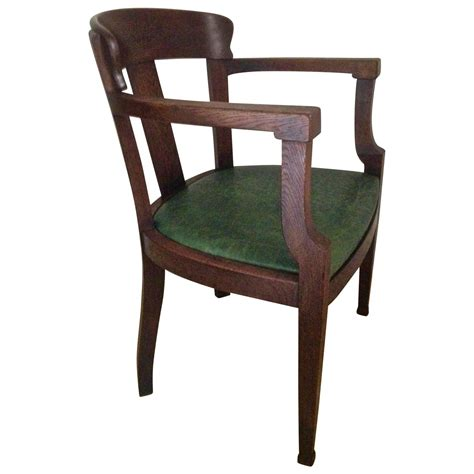 early solid oak deco desk chair for sale at 1stdibs