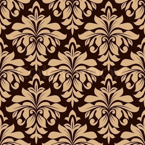 Download beautiful, curated free backgrounds on unsplash. Light brown floral seamless pattern on dark brown ...