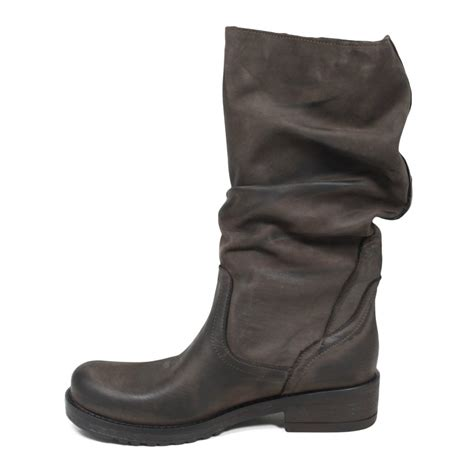 real leather biker boots biker boots in genuine leather brown fall winter