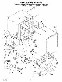 parts for whirlpool du943pwkq0 dishwasher With whirlpool dishwasher parts whirlpool dishwasher manual as well diagram