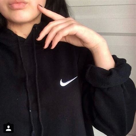 Sweater black nike grunge soft alternative indie fashion outfit style soft grunge ...