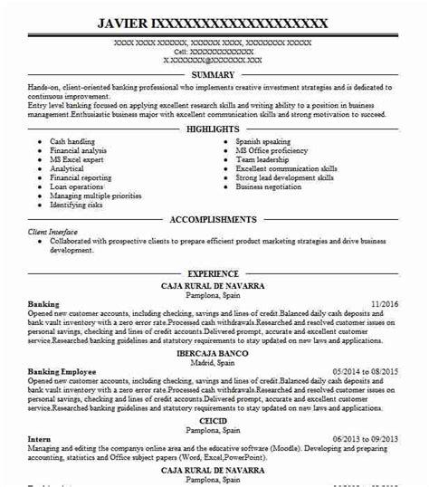 Bank Resume by Popular Banking Resume Bank Teller Resume Exle Template