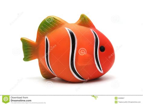 Isolated Toy Clown Fish Royalty Free Stock Photography
